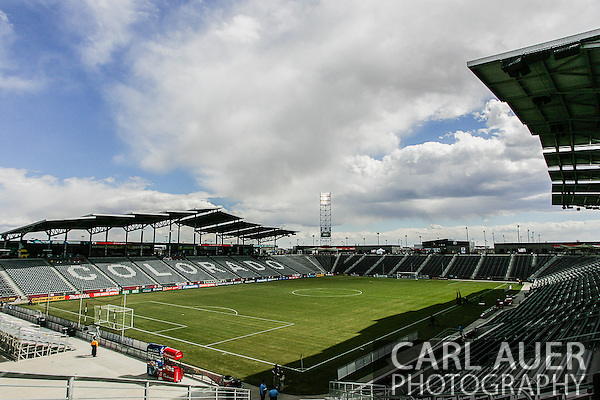 March 30th, 2013 Commerce City, CO - A general view of the pitch at Dick's Sporting Goods Park prior to the start of the MLS match between the Portland Timbers and the Colorado Rapids in Commerce City, CO (Carl Auer/Newsport)