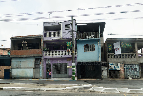 This is the standard of housing above the Arena da Corinthians in Sao Paulo. I know this because my taxi driver was hopeless and got completely lost relying on his satnav rather than heading for the massive football stadium just to his left. Photo by Andrew Tobin/Tobinators Ltd (Andrew Tobin/Tobinators)