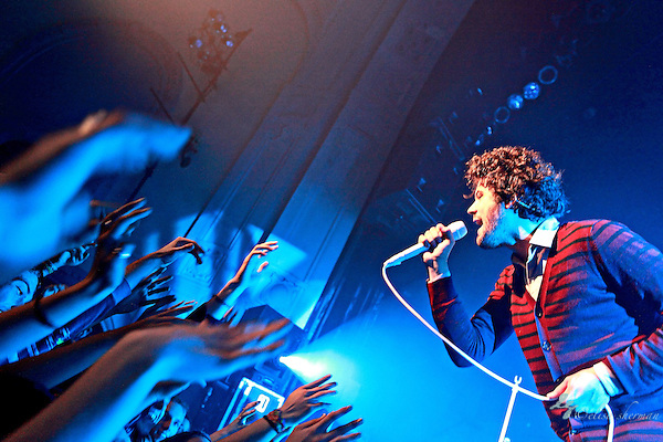 Michael Angelakos of Passion Pit performs on November 30, 2010  in support of &quot;Manners&quot; at the Moore Theatre in Seattle, Washington (Elisa Sherman)