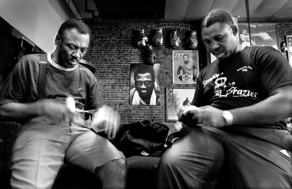 Joe Frazier in his Gym in Philadelphia (Pete Marovich)