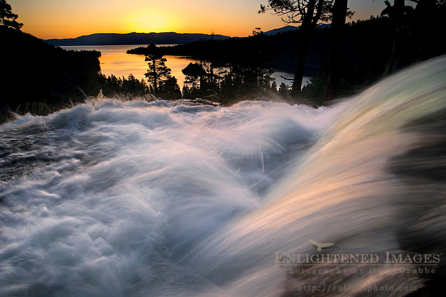 Sunrise at Eagle Falls above Emerald Bay, near South Lake Tahoe, California (Gary Crabbe)