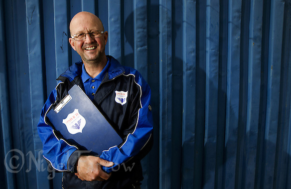 17 MAY 2015 - IPSWICH, GBR - Tony Stant, the Ipswich Eagles Elite team manager, at Whitton Sports and Community Centre in Ipswich, Suffolk, Great Britain (PHOTO COPYRIGHT © 2015 NIGEL FARROW, ALL RIGHTS RESERVED) (NIGEL FARROW/COPYRIGHT © 2015 NIGEL FARROW : www.nigelfarrow.com)
