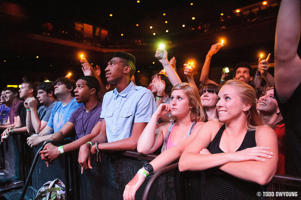 The crowd at the Pageant during Chance The Rapper's performance opening for Childish Gambino. (TODD OWYOUNG)