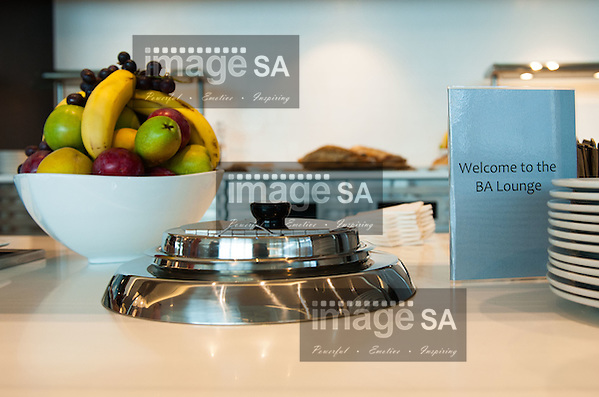 Inside the British Airways Galleries Lounge at Cape Town International Airport, South Africa. (Roger Sedres)