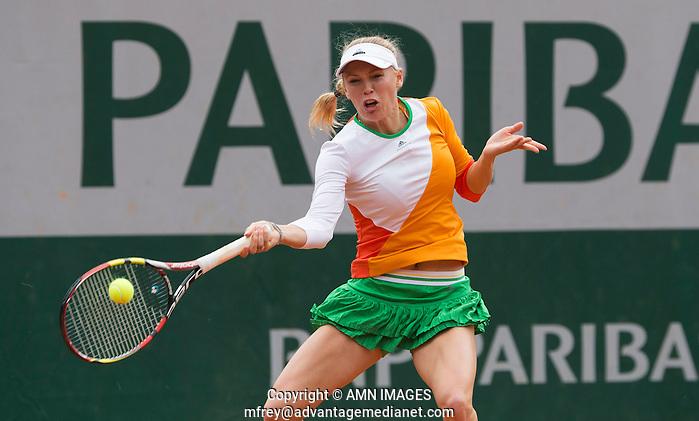 CAROLINE WOZNIACKI (DEN) Tennis - French Open 2014 -  Toland Garros - Paris -  ATP-WTA - ITF - 2014  - France - 27 May 2014.  © AMN IMAGES (FREY/FREY- AMN Images)