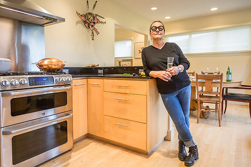 """I like entertaining for people I really like.""  -Linda Duck welcomes friends at her home in Anchorage. (Clark James Mishler)"