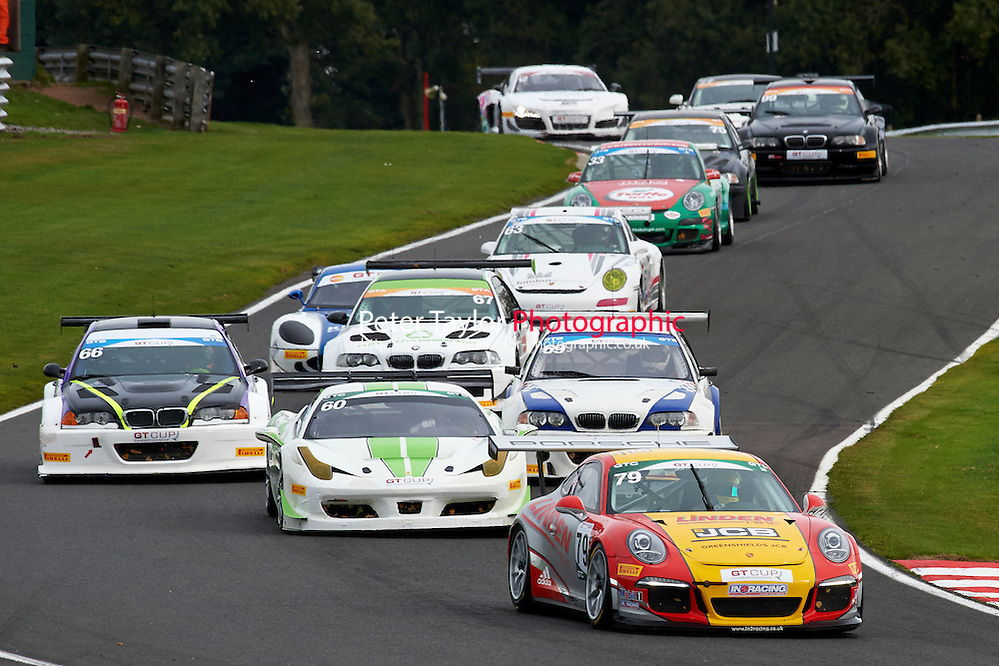 #79 Will PLANT Porsche 991 GT3 during GT Cup - Race 1 as part of the MSVR Oulton Park 10th October 2015 at Oulton Park, Little Budworth, Cheshire, United Kingdom. October 10 2015. World Copyright Taylor/PSP. Copy of publication required for printed pictures.  Every used picture is fee-liable. http://archive.petertaylor-photographic.co.uk (Taylor/PSP)