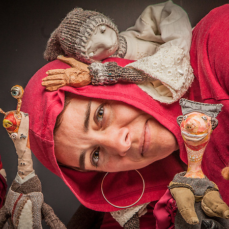 "Puppet Artist Erin Osinkosky  ""My soul's wrapped up in them.  I never meant to be a puppet artist."" 907-250-6786  erinosinkosky@gmail.com (© Clark James Mishler)"