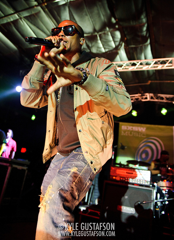 AUSTIN, TX - March 17th: Atlanta rapper B.O.B. performs at the Atlantic Records showcase at La Zona Rosa as part of the 2011 South by Southwest Festival. (Photo by Kyle Gustafson) (Kyle Gustafson)