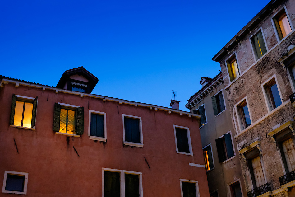 VENICE, ITALY - CIRCA MAY 2015: Typical buildings with patina look walls and windows in Venice (Daniel Korzeniewski)