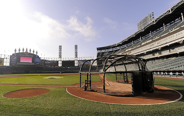 CHICAGO - APRIL 5:  A general view of the playing field early in the morning prior to the Opening Day game between the Chicago White Sox and Cleveland Indians on April 5, 2010 at U.S. Cellular Field in Chicago, Illinois.  The White Sox defeated the Indians 6-0.  (Photo by Ron Vesely) (Ron Vesely)
