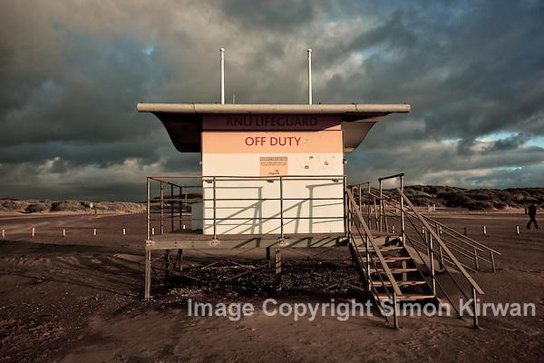 Ainsdale Beach: RNLI Lifeguard Off Duty - Photo By Simon Kirwan