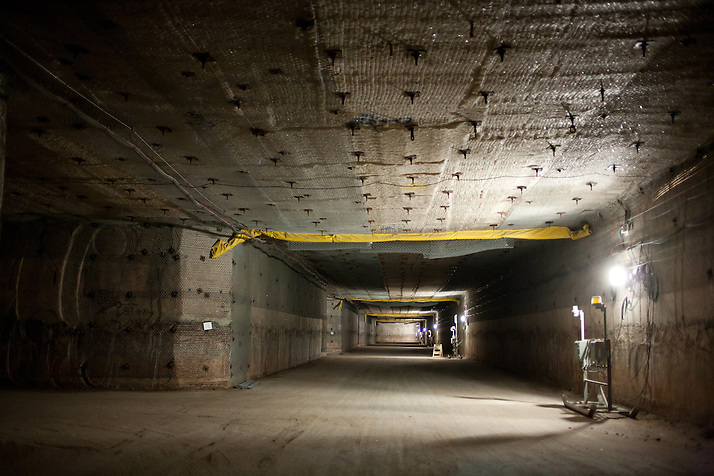 2150 ft underground inside The Waste Isolation Pilot Plant in Eddy County. WIPP received $172 million as part of the Recovery and Reinvestment Act accelerate nuclear waste cleanup. (Steven St. John)
