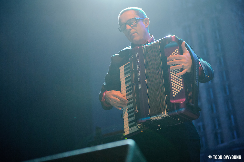 Photos of the band Flogging Molly performing on March 8 at the Pageant in St. Louis. (Todd Owyoung)