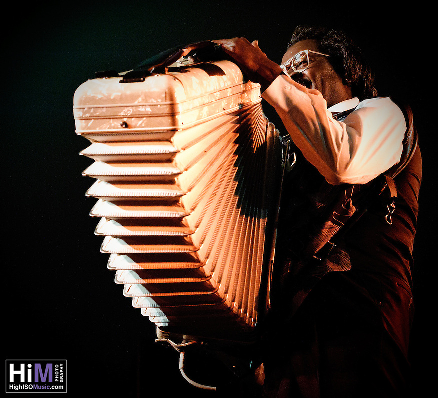 Buckwheat Zydeco playing at Voodoo Festival 2010 in New Orleans. (Golden G. Richard III)