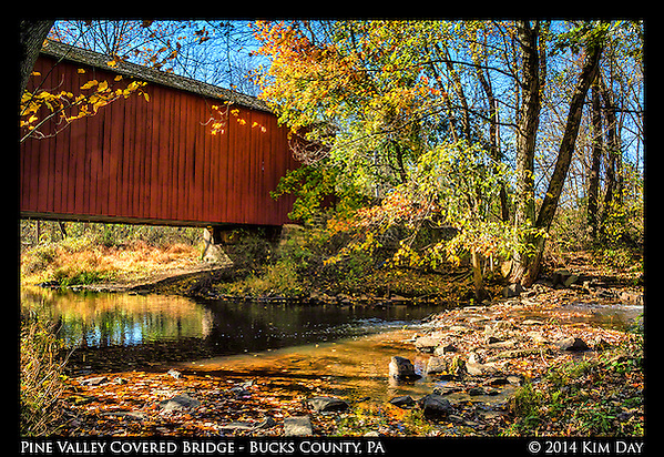 Pine Valley Covered Bridge New Britian, PA October 2014 (Kim Day)