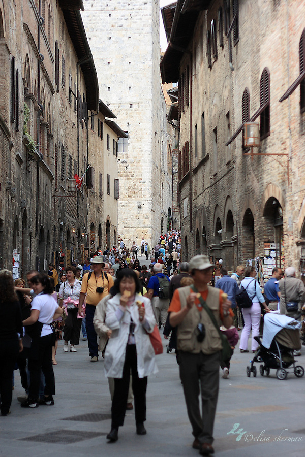 Strolling through San Gimignano ~ Tuscany (Elisa Sherman)
