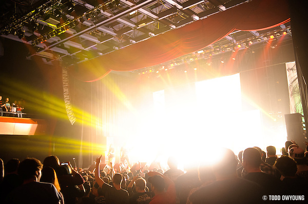 Atmosphere during Lamb of God's performance at the Pageant in St. Louis on November 7, 2012. (Todd Owyoung)