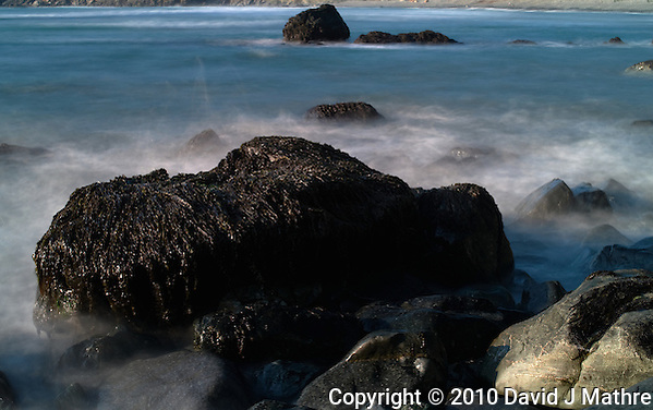 Long Exposure Exercise at Sand Dollar Beach, Big Sur Central California Coast. Image taken with a Nikon D3x and 50 mm f/1.4G lens  and Singh-Ray Filter (ISO 100, 50 mm, f/16, 5 sec). (David J Mathre)
