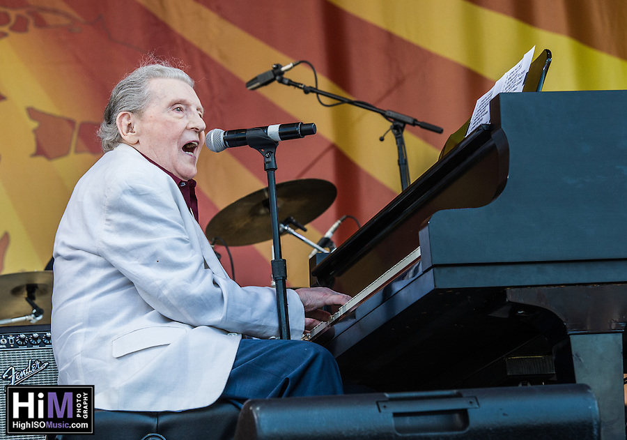Jerry Lee Lewis at the New Orleans Jazz and Heritage Festival on May 2, 2015. (HIGH ISO Music, LLC)