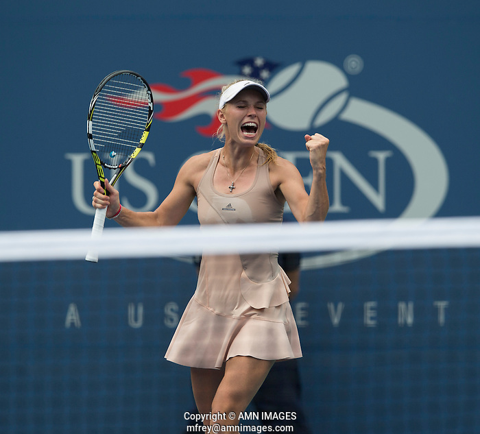 CAROLINE WOZNIACKI (DEN) The US Open Tennis Championships 2014 - USTA Billie Jean King National Tennis Centre -  Flushing - New York - USA -   ATP - ITF -WTA  2014  - Grand Slam - USA   31st August 2014  © AMN IMAGES (FREY/FREY-AMN IMAGES)