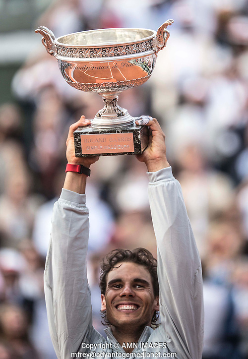 RAFAEL NADAL (ESP) Tennis - French Open 2014 -  Roland Garros - Paris -  ATP-WTA - ITF - 2014  - France -  8th June 2014.  © AMN IMAGES (FREY/FREY- AMN Images)