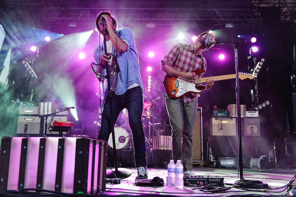 Photos of the rock band Young The Giant performing at Central Park Summerstage, NYC. July 16, 2012. Copyright © 2012 Matthew Eisman. All Rights Reserved. (Photo by Matthew Eisman/WireImage)