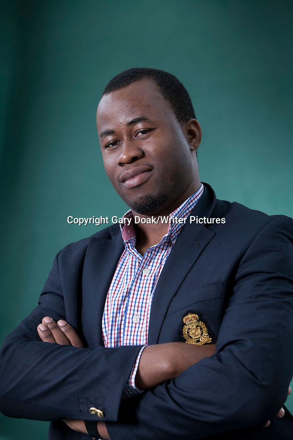 Chigozie Obioma (Man Booker Prize Nominee), at the Edinburgh International Book Festival 2015. Edinburgh, Scotland. 26th August 2015 Photograph by Gary Doak/Writer Pictures WORLD RIGHTS (Must Credit: Gary Doak/Writer Pictures)