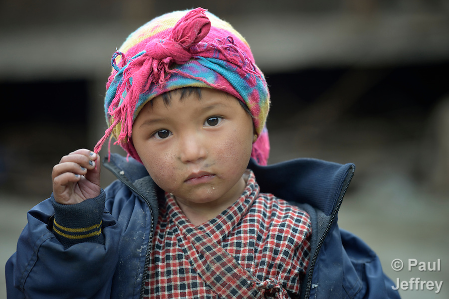 Sophiya Tamang, 4, lives in the village of Goljung, in the Rasuwa District of Nepal near the country's border with Tibet.