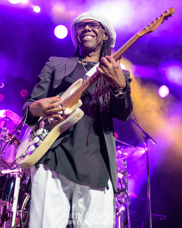 Nile Rodgers of Chic performs at the Verizon Center, opening for Duran Duran on their Paper Gods tour. (Photo by Kyle Gustafson)