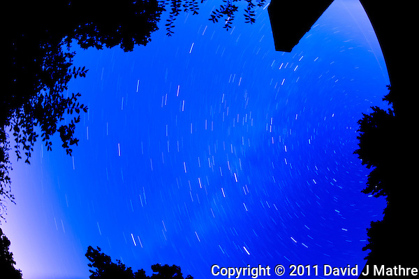 Summer Night in New Jersey. Image taken with a Nikon D3s and 16 mm f/2.8 mm Fisheye lens (ISO 400, 16 mm, f/2.8, 900 sec). (David J Mathre)