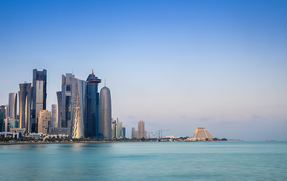 DOHA, QATAR - CIRCA DECEMBER 2013: View of the Doha skyline (Daniel Korzeniewski)