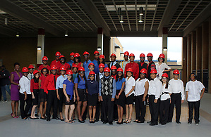 The inaugural class of students inducted into the Kashmere High School Futures Academy on May 30, 2013. (Houston Independent School District)