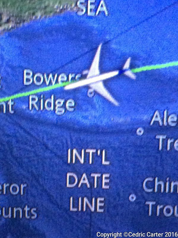 Yes! Our first time crossing the International Dateline!!