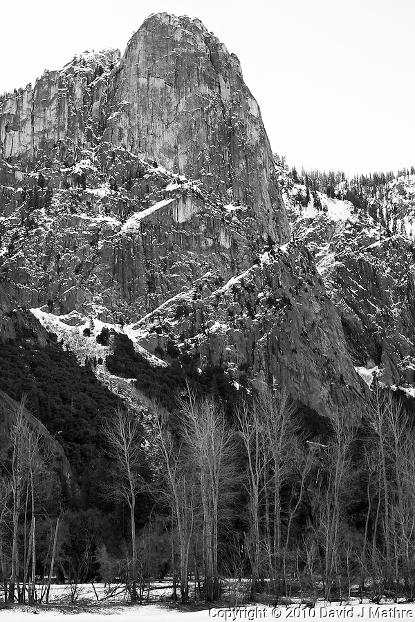 Yosemite Valley in Winter. Nikonians 2010 Yosemite Winter Workshop Day 1. Image taken with a Nikon D3s and 50 mm f/1.4G lens (ISO 200, f/8, 1/40 sec). Capture One Pro 6. Adobe Photoshop CS5, Focus Magic, NIK Silver Efex Pro 2. (David J Mathre)