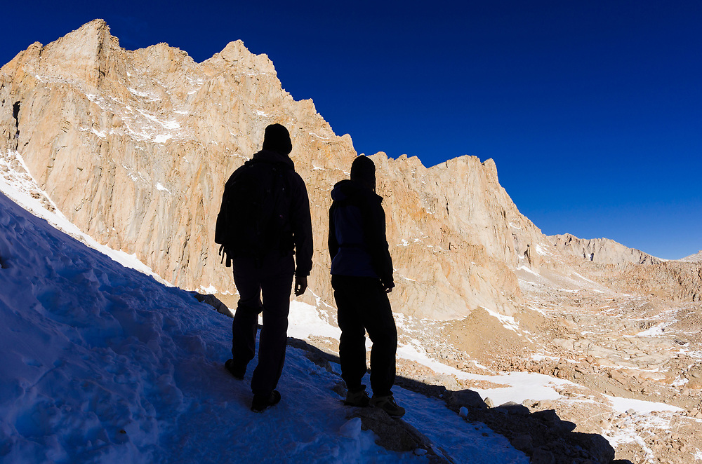 Hikers on the Mount Whitney trail, John Muir Wilderness, California