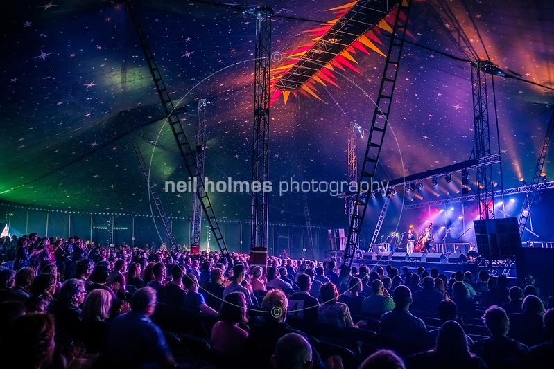 Beverley Racecource, Beverley, East Yorkshire, United Kingdom, 16 June, 2017. Pictured: Stillhouse at Beverley Folk Festival Big Top (Neil Holmes)