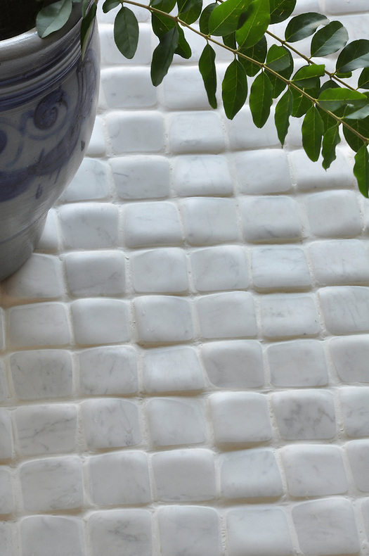 "Giovanni Barbieri's 2"" x 2"" Time Worn Bianco Carrara (New Ravenna Mosaics)"