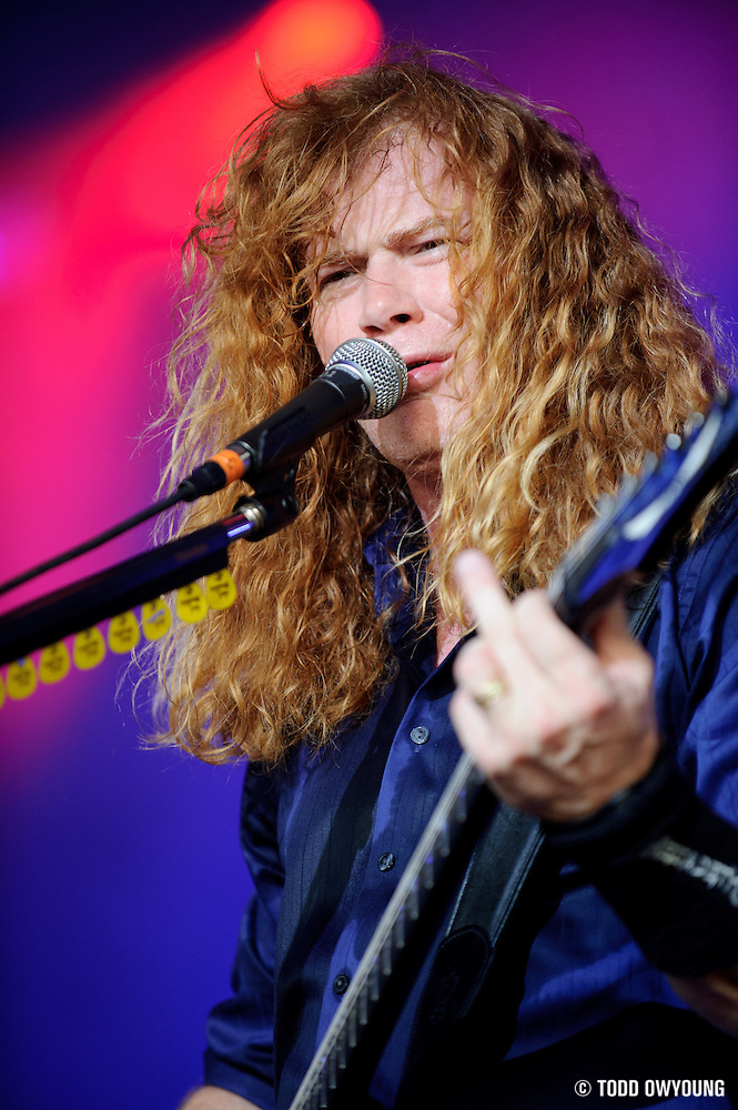 Megadeth performing on the Mayhem Festival at Verizon Wireless Amphitheater in St. Louis, Missouri on July 19, 2011. © Todd Owyoung. (Todd Owyoung)