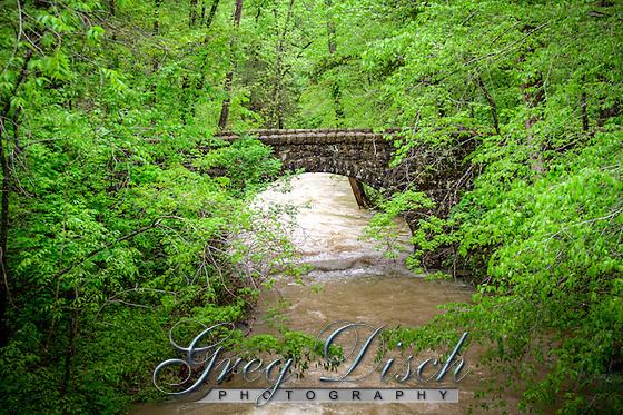 CCC bridge over Blanchard Spring Creek built around 1941 at the Blanchard Springs Caverns. (Greg Disch gdisch@gregdisch.com)