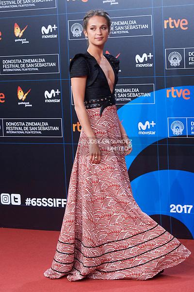 Alicia Vikander 'Submergence' premiere during 65th San Sebastian Film Festival on September 22, 2017 in San Sebastian, Spain. (©JOSE GEGUNDEZ)