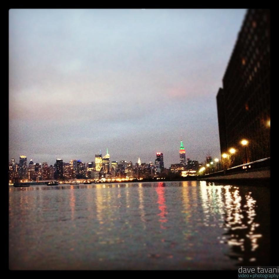 The New York City skyline on Christmas Day as seen from Hoboken, NJ, December 25, 2012. (Dave Tavani)