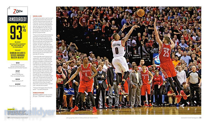 Damian Lillard in ESPN Magazine. Photo by Craig Mitchelldyer www.craigmitchelldyer.com (Craig Mitchelldyer)