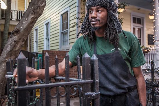 Cook, St. Julian Moore, at Poogan's Porch, Charleston, S.C.  slim29403@hotmail.com (© Clark James Mishler)