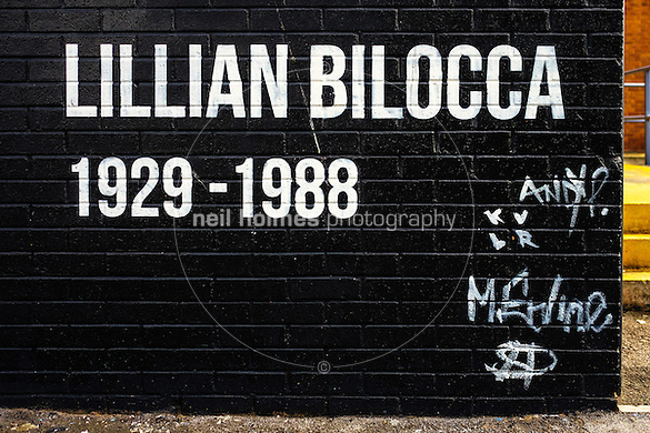 Kingston Upon Hull, East Yorkshire, United Kingdom, 07 May, 2016. Pictured: Lillian Bilocca wall mural, Pease Street (Neil Holmes)