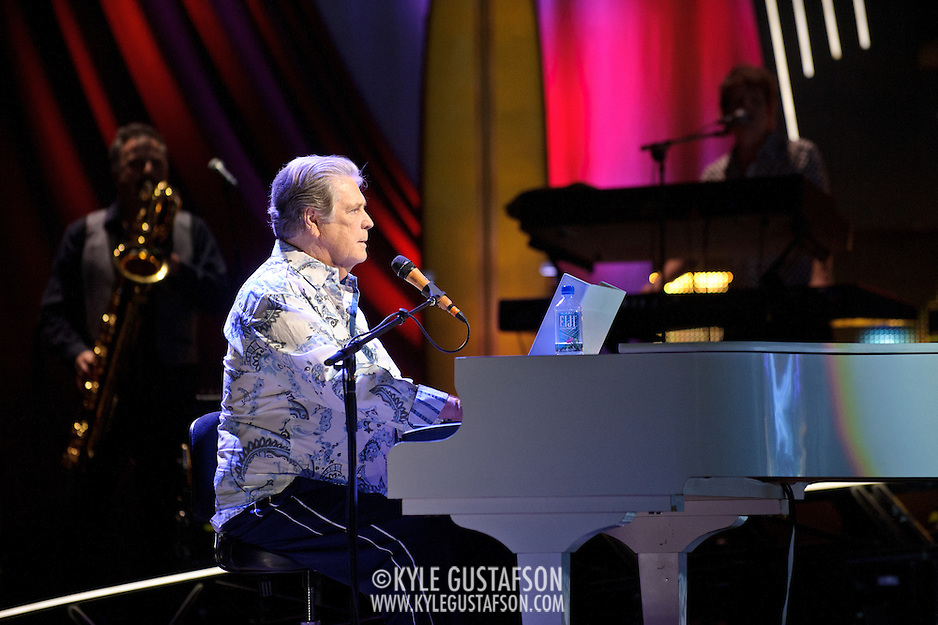 COLUMBIA, MD - June 15th, 2012 - Brian Wilson of The Beach Boys performs at Merriweather Post Pavilion as part of the band's 50th Anniversary Reunion Tour. This tour marks the first time Wilson has done a full range of dates with the band since 1965. (Photo by Kyle Gustafson/For The Washington Post) (Kyle Gustafson/For The Washington Post)