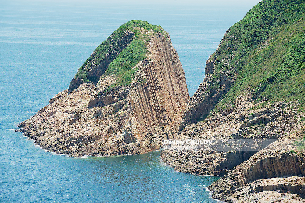 Hexagonal columns of volcanic origin at the Hong Konvvg Global Geopark in Hong Kong, China. (Dmitry Chulov)