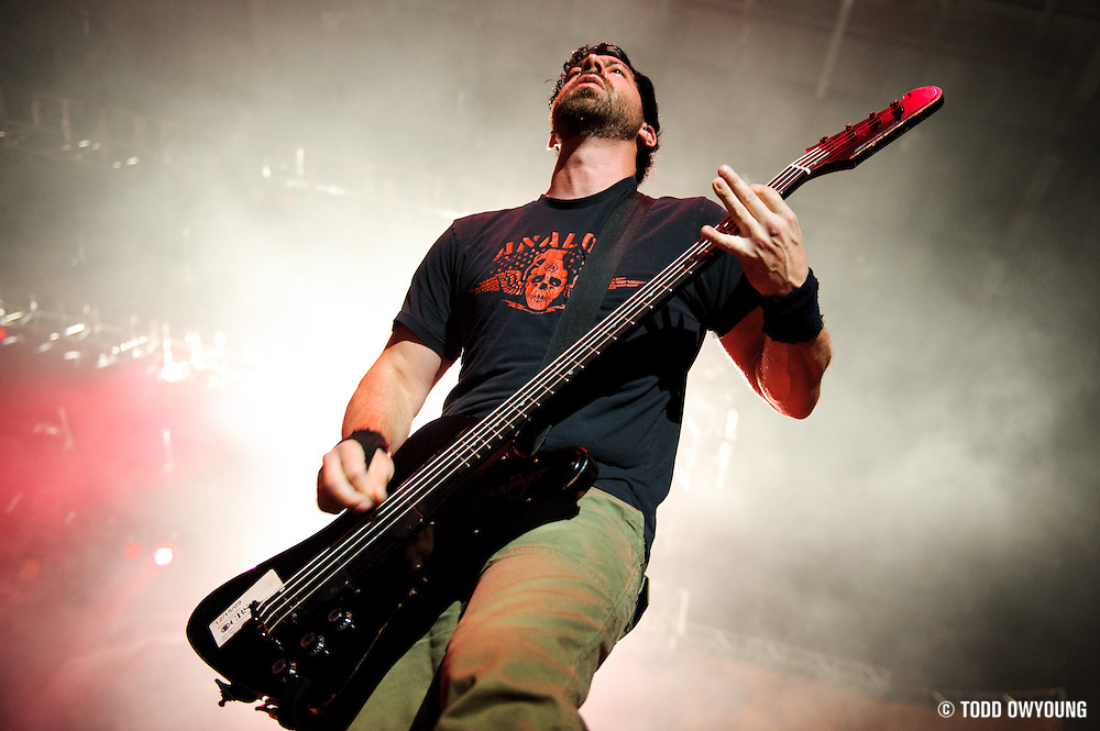 Chevelle performing at Pointfest at Verizon Wireless Amphitheater in St. Louis on August 20, 2011. © Todd Owyoung. (Todd Owyoung)