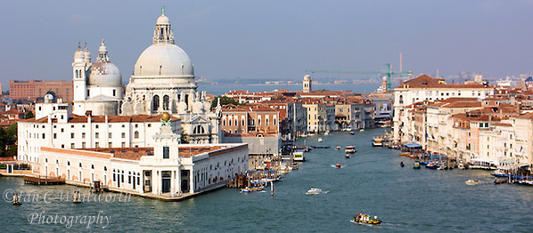 Panoramic view from a cruise ship of the southern Venice waters east of San Marco Square (Ian C Whitworth)