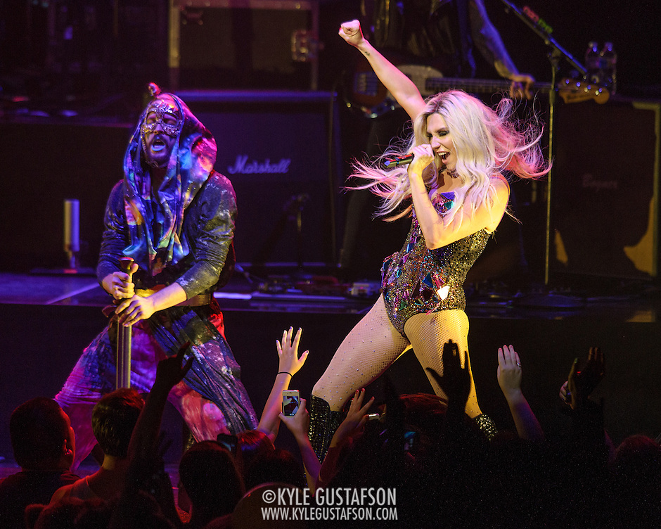 "VIENNA, VA - August 12th, 2013 - Ke$ha performs at the The Filene Center at Wolf Trap in Vienna, VA as part of her Warrior Tour. Her 2012 album of the same name reached #6 on the US Billboard 200 album chart and spawned the #1 single ""Die Young."" (Photo by Kyle Gustafson / For The Washington Post) (Kyle Gustafson)"